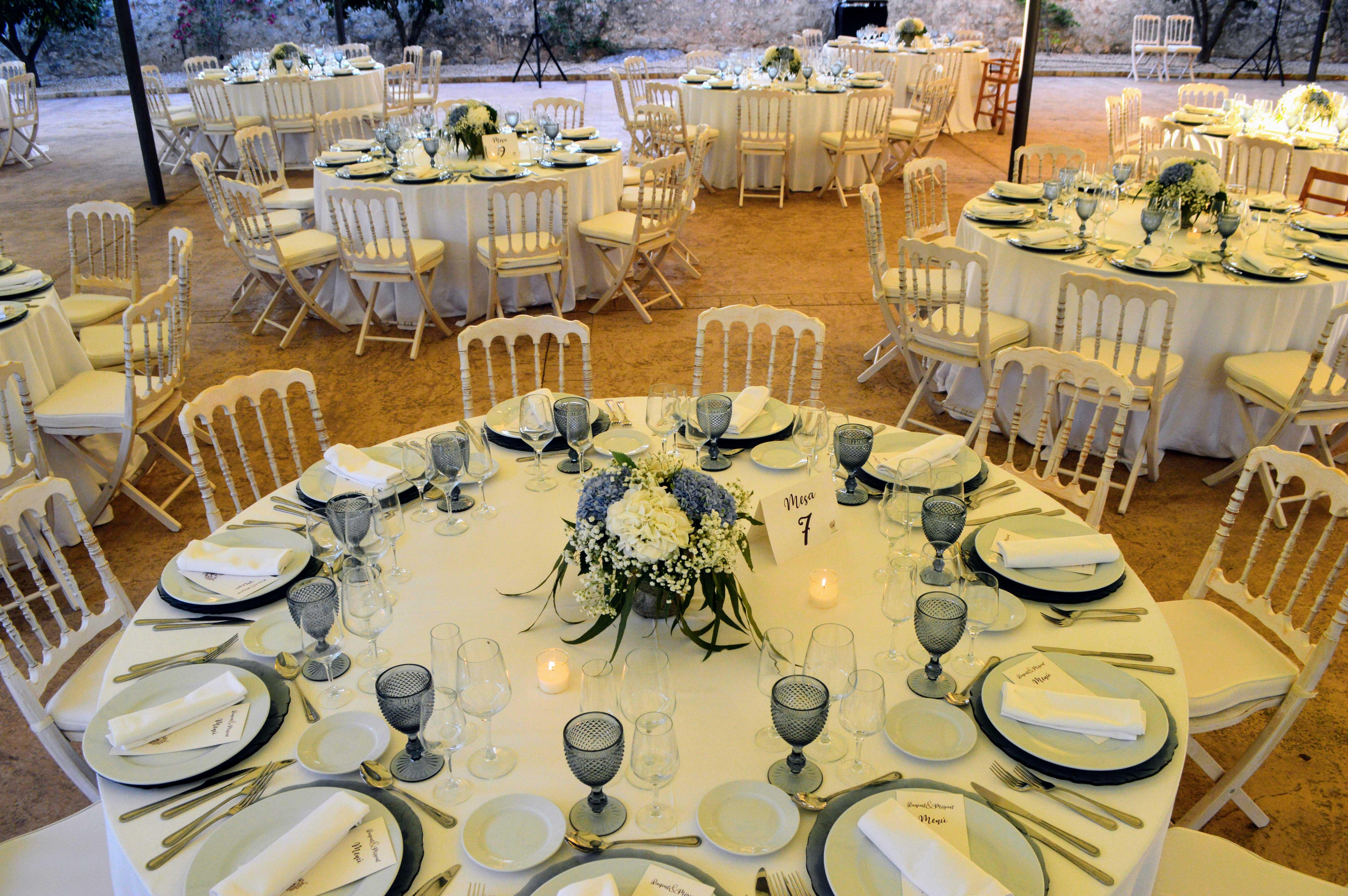 decoracion mesas boda - blanc i negre events
