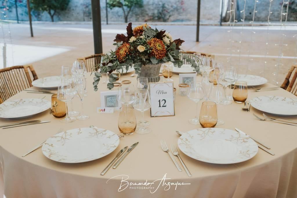 mesa decorada banquete blanc i negre events