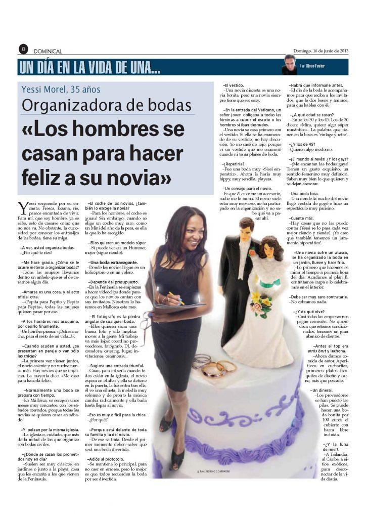 Yessi Morel organizadora de bodas